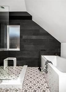 Carrelage Noir Salle De Bain : la salle de bain noir et blanc les derni res tendances ~ Dailycaller-alerts.com Idées de Décoration