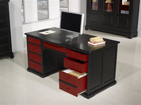 meuble bureau noir meuble bureau noir bureau noir tiroirs with