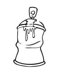 Spray Paint Can Graffiti Coloring Pages