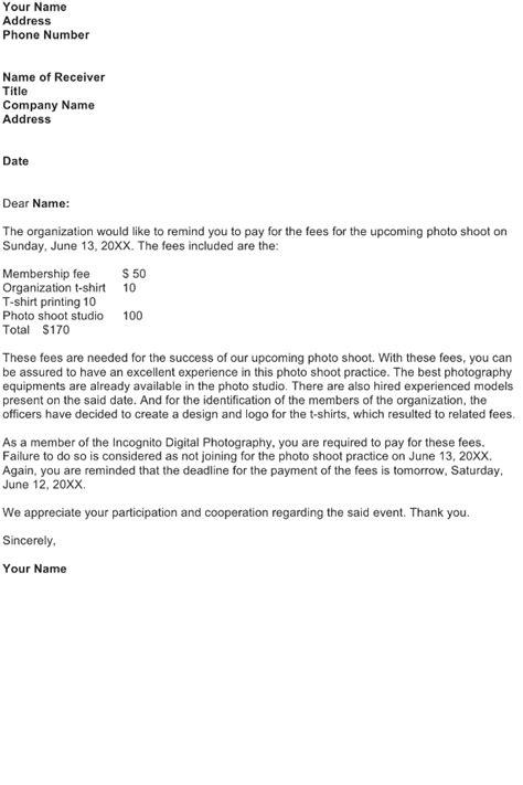 Reminder Letter Sample - Download FREE Business Letter