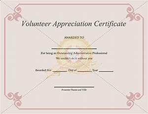 Volunteer appreciation certificate pdf for Volunteer recognition certificate template