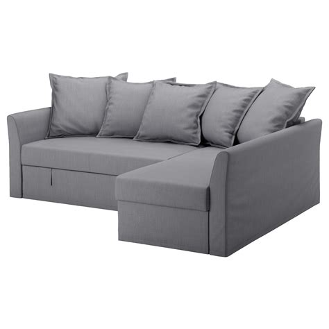 Holmsund Corner Sofa Bed Nordvalla Medium Grey Chaise