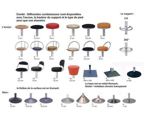 tabouret chaises de bar moovika tabourets combi fixe 81 90cm