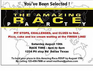 amazing race printables review concert katie With amazing race birthday party templates