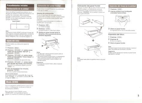 manual de uso sony auto estereo cdx gt707dx