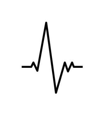 Pochoir Tatouage Temporaire Electrocardigramme Figuratif