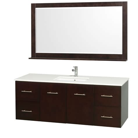 modern kitchen sinks centra 60 quot single bathroom vanity for undermount sinks by 4225