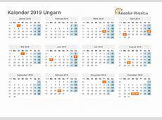 Feiertage 2019 Ungarn Kalender & Übersicht