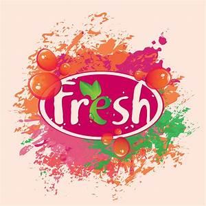 Fresh juice poster design vectors material 01 - Vector ...
