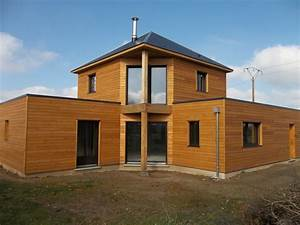 difference prix maison ossature bois traditionnelle With maison brique et bois