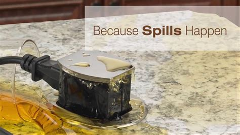 countertop electrical receptacles hubbell countertop pop up outlets overview spill test