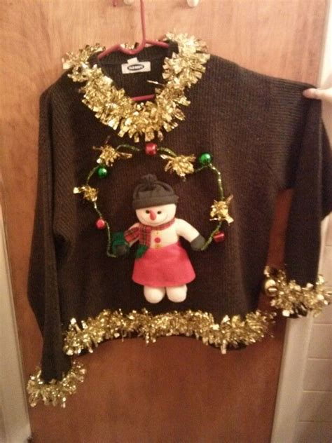 ugly christmas sweater craft ideas pinterest