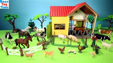 Horse Stable And Farm Animals Barn Toys For Kids