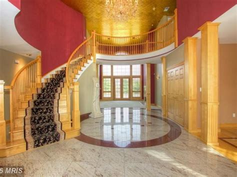 bel air masterpiece with granite foyer glass block