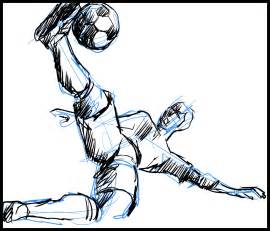 Soccer Football Player Drawing