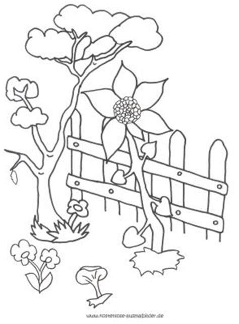 Ausmalbilder Garten  Garten Ausmalen Ausmalbilder