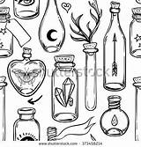 Science Doodles Magic Tattoo Alchemy Drawing Potions Cycle Bottles Doodle Ink Glass Water Sketch Magical Paper Tubes Bottle Pattern Lab sketch template
