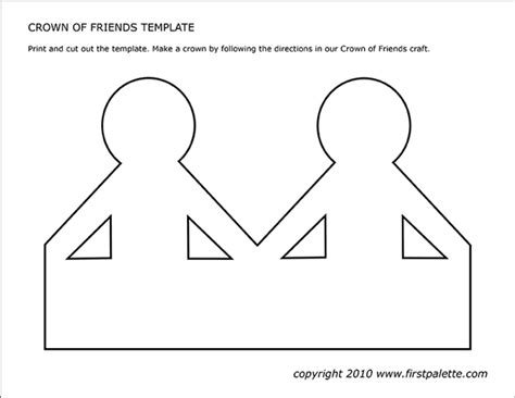 crown  friends template  printable templates coloring pages firstpalettecom
