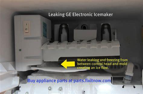 leaking ge icemaker  appliantology gallery appliantologyorg  master samurai tech