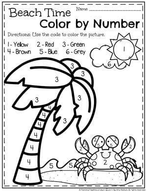 Summer Preschool Worksheets  Preschool Colors, Number Worksheets And Worksheets