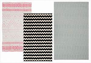 Tapis Graphique Noir Et Blanc : cheap blog dco joli place with tapis ethnique noir et blanc ~ Teatrodelosmanantiales.com Idées de Décoration