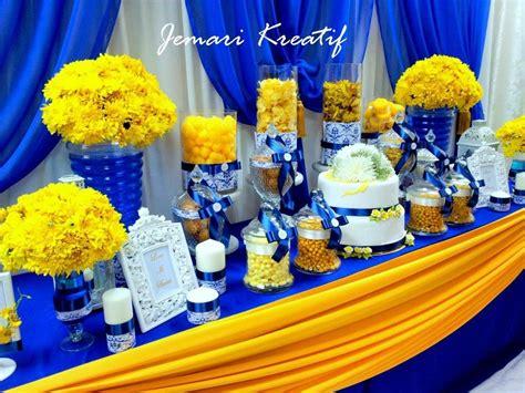 jemari kreatif design candy buffet royal blue and