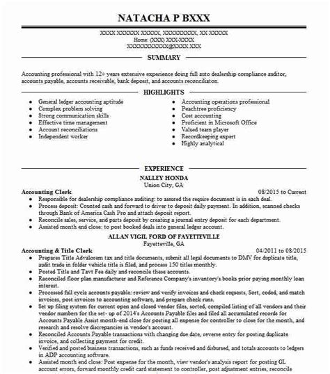 Accounting Resume Objective by Accounting Clerk Resume Objectives Resume Sle Livecareer