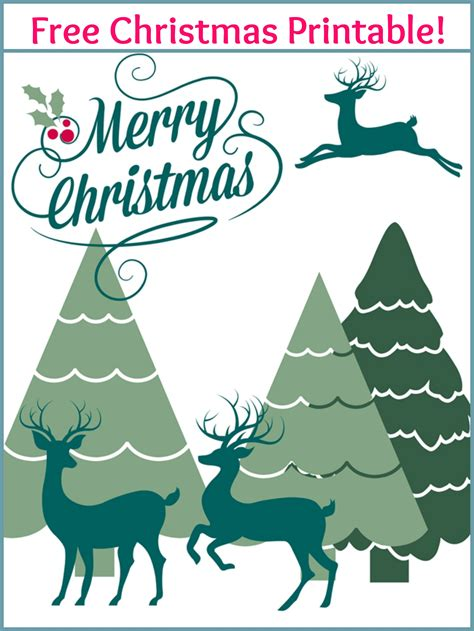 Merry Christmas Free Printable  Live Creatively Inspired