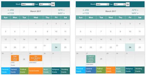 calendar shortcode documentation