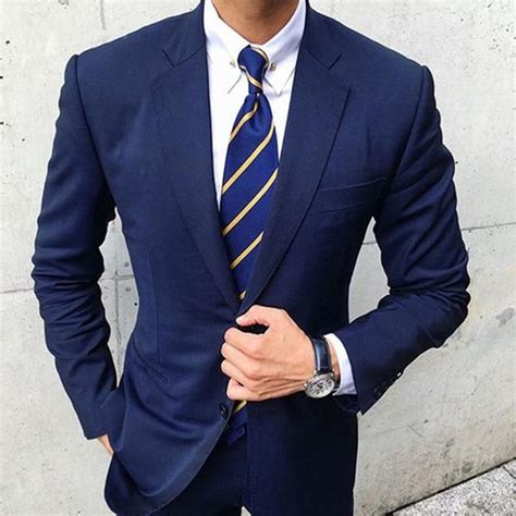 Great news!!!you're in the right place for blue navy suit. 2020 Two Pieces Navy Blue Mens Suit 2018 New Custom Made ...