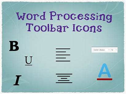 Word Toolbar Processing Icons