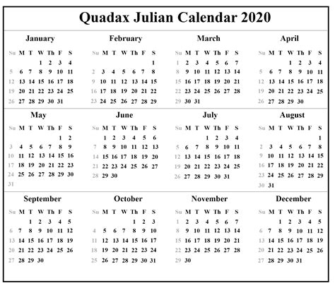 quadax julian calendar