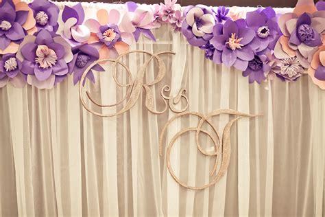 paper flower backdrop colours  change hall paper