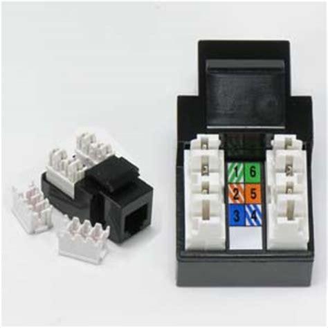 rj11 12 cat 3 110 type keystone black bestlink netware