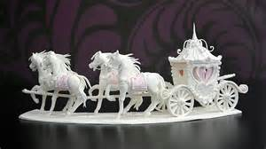 cinderella wedding cake topper sugar and carriage centerpiece yeners way