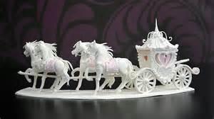 cinderella wedding cake topper sugar and carriage centerpiece yeners way
