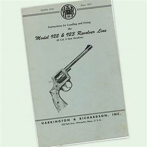 H U0026r 922 923 Revolver Instructions Parts Owners Manual