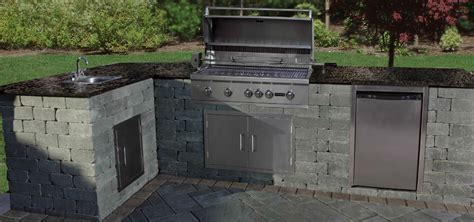 outdoor kitchen kits with sink kitchens cambridge pavingstones outdoor living