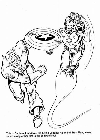 Marvel Coloring Pages Civil War Heroes Super