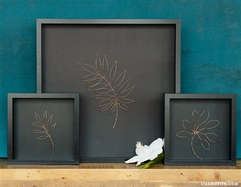 botanical copper wall art bigdiyideascom