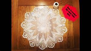 How To Crochet Big Round Table Doily Part 3 Of 3