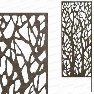 Panneau Bois Decoratif : panneau occultant cloture metal accueil design et mobilier ~ Teatrodelosmanantiales.com Idées de Décoration