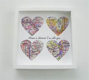 unique wedding gift personalized map heart art by With etsy personalized wedding gifts