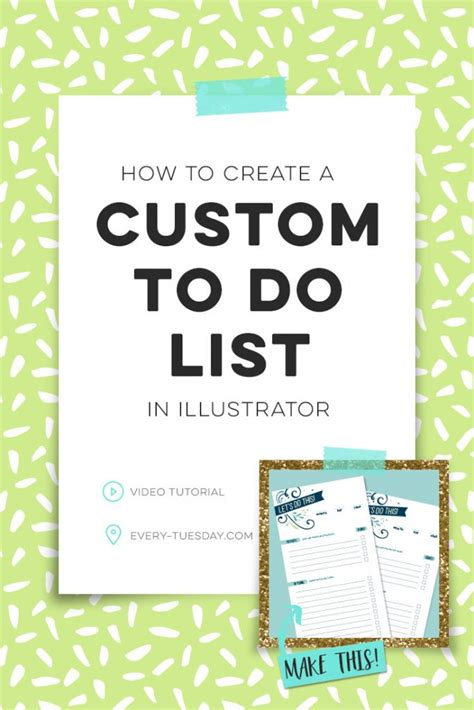 How To Create A To Do List In Illustrator Everytuesday