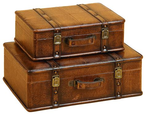 leather decorative trunk cases and storage accent decor 2