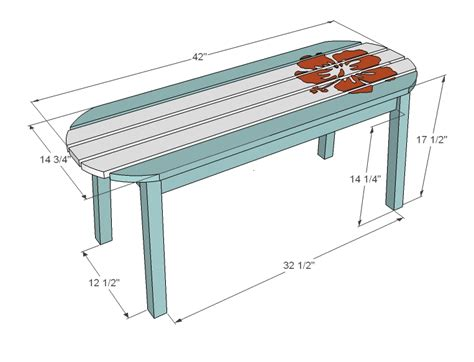 standard bench height white surf board coffee table bench or child s
