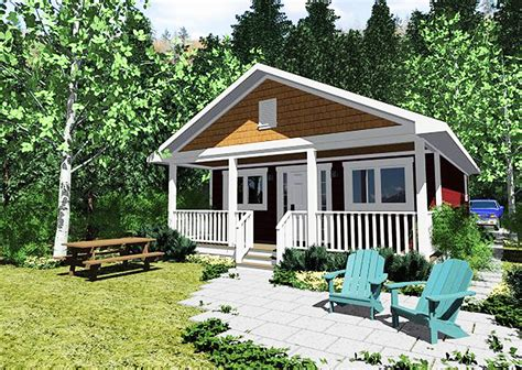 tiny cottage home  covered front porch mg