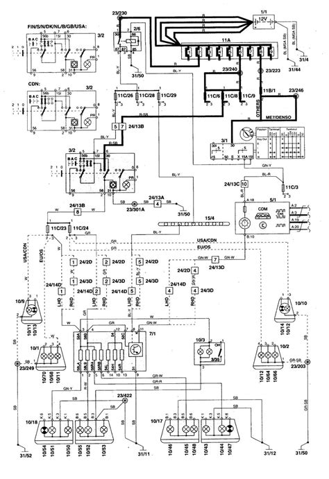 volvo s70 1998 2000 wiring diagrams parking l