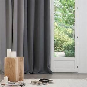 Rideau Gris Clair : rideau occultant 140x260cm gris clair veo shop ~ Teatrodelosmanantiales.com Idées de Décoration