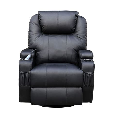 leather swivel recliner cinemo black leather recliner chair rocking swivel